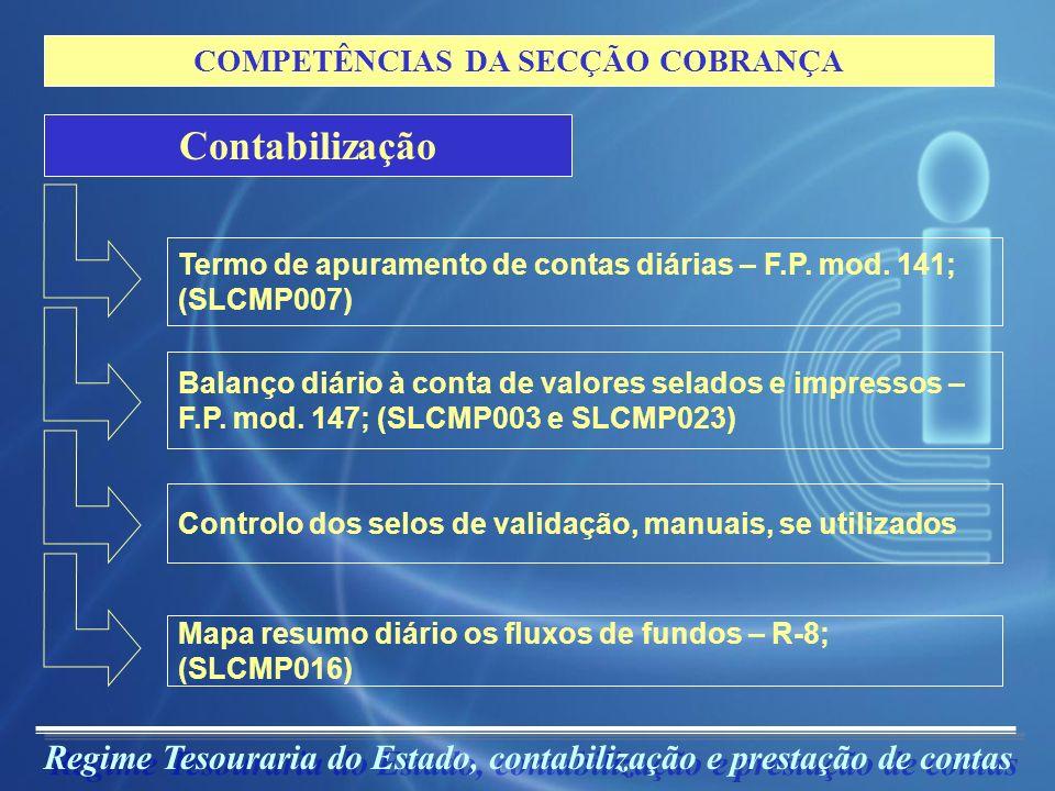 COMPETÊNCIAS DA SECÇÃO COBRANÇA
