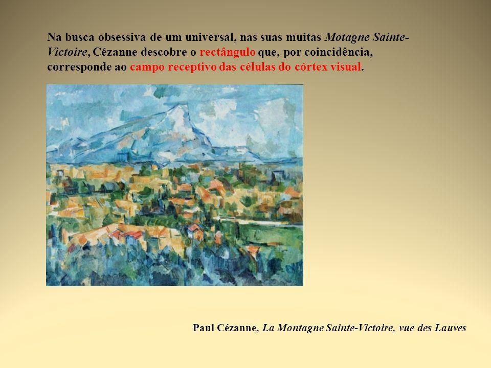 Na busca obsessiva de um universal, nas suas muitas Motagne Sainte-Victoire, Cézanne descobre o rectângulo que, por coincidência, corresponde ao campo receptivo das células do córtex visual.