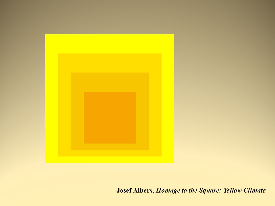 Josef Albers, Homage to the Square: Yellow Climate