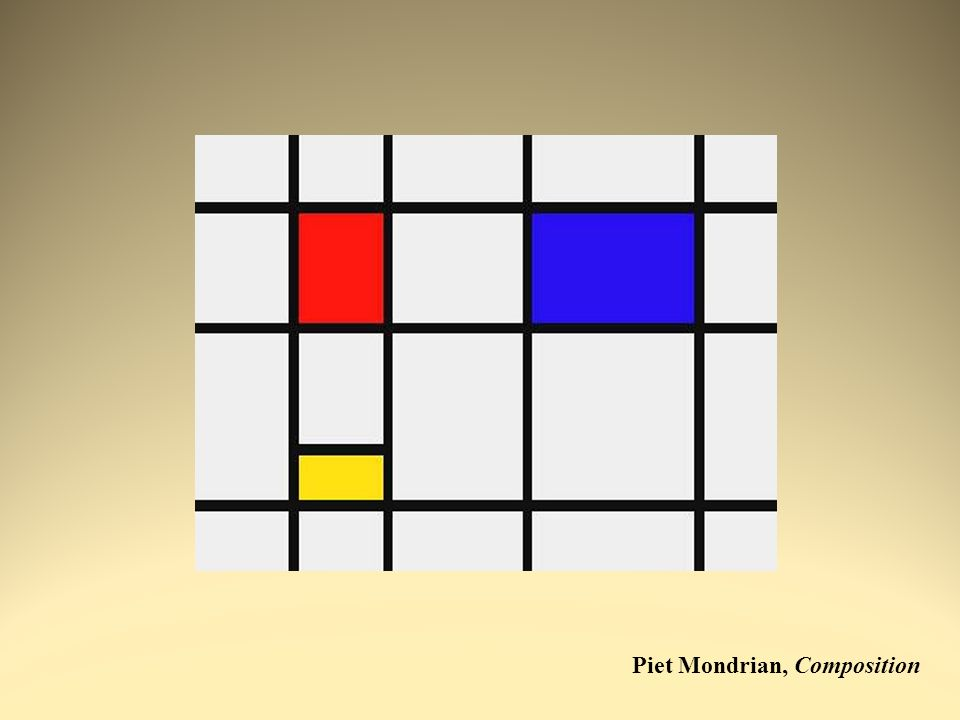 Piet Mondrian, Composition