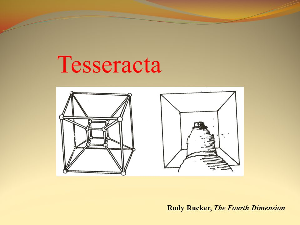 Tesseracta Rudy Rucker, The Fourth Dimension