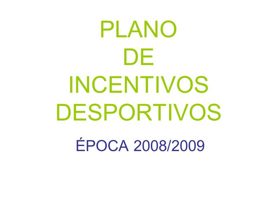 PLANO DE INCENTIVOS DESPORTIVOS