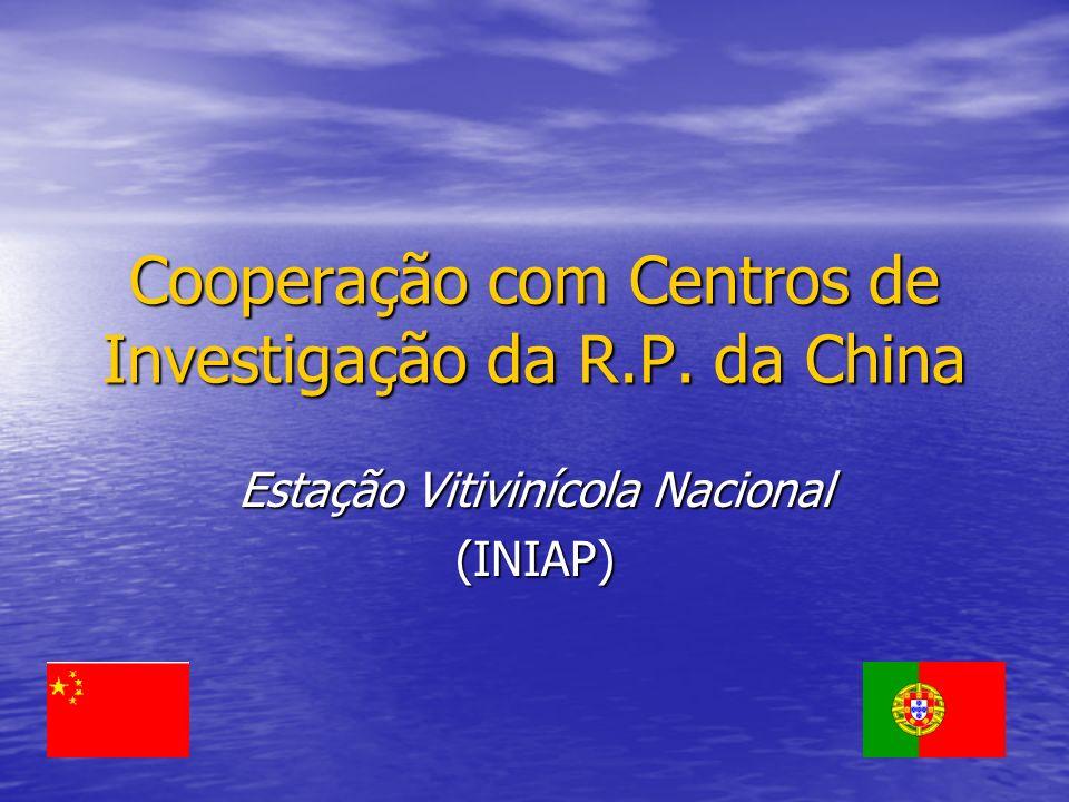 Cooperação com Centros de Investigação da R.P. da China