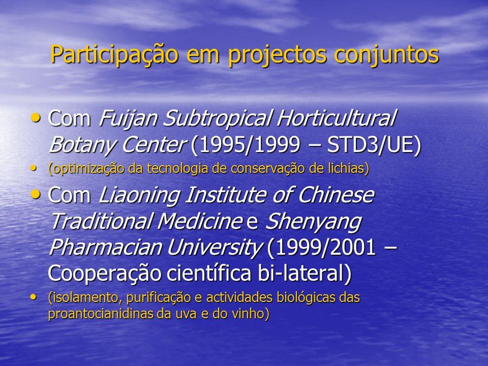 Participação em projectos conjuntos