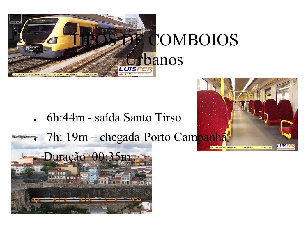 TIPOS DE COMBOIOS Urbanos