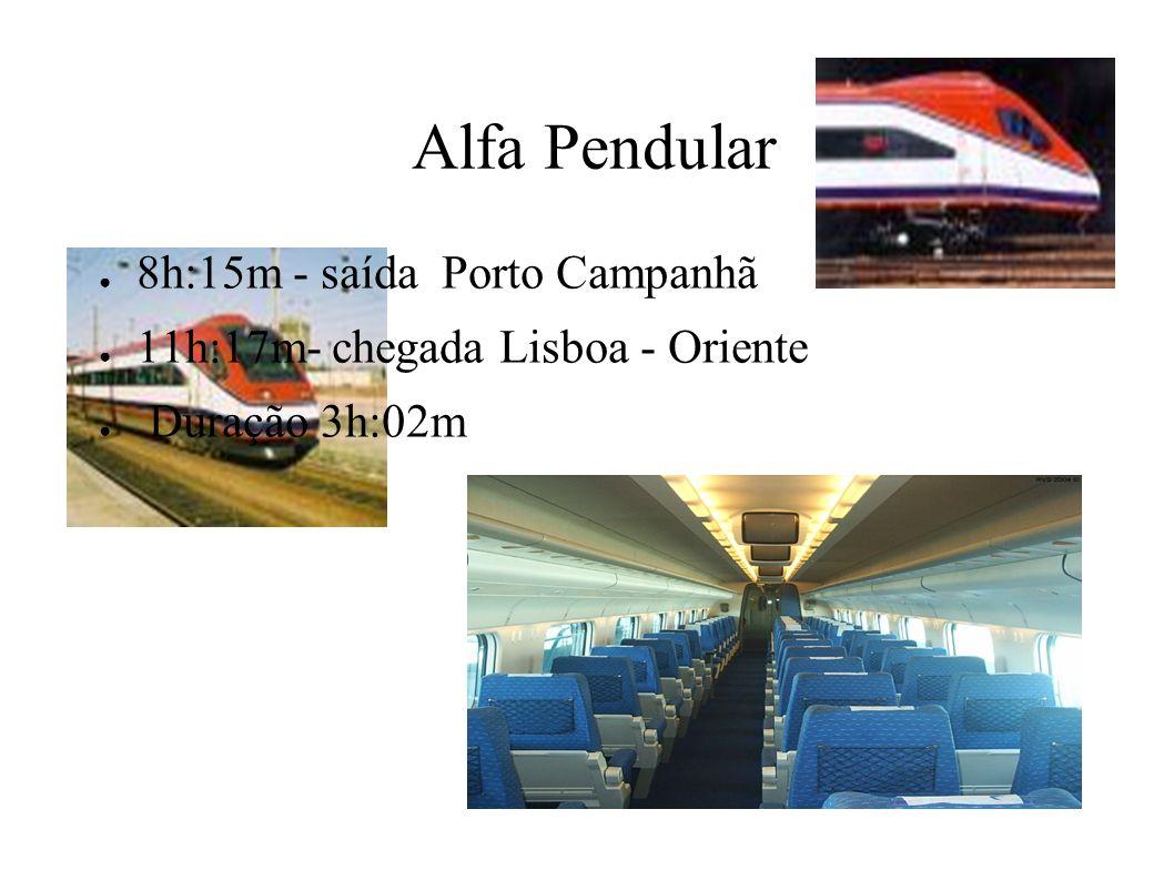 Alfa Pendular 8h:15m - saída Porto Campanhã