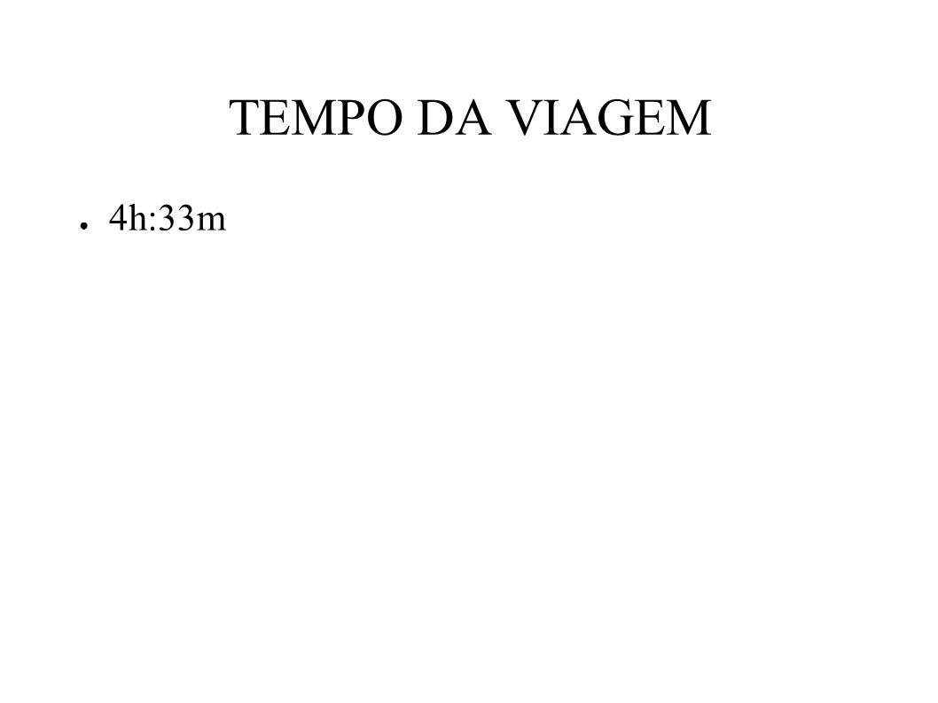 TEMPO DA VIAGEM 4h:33m
