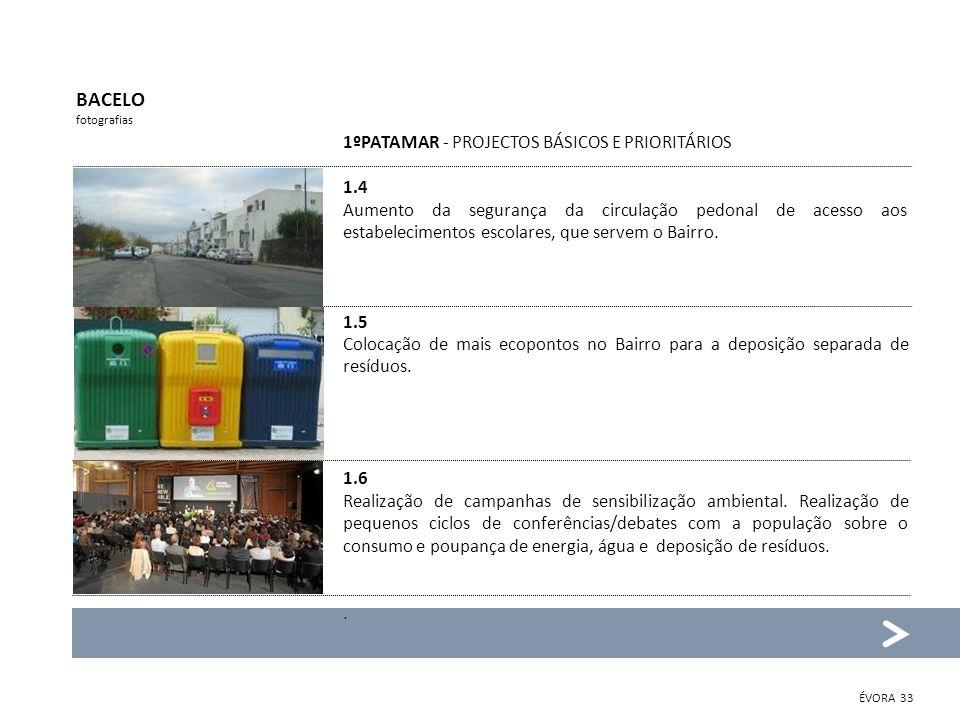 BACELO 1ºPATAMAR - PROJECTOS BÁSICOS E PRIORITÁRIOS 1.4