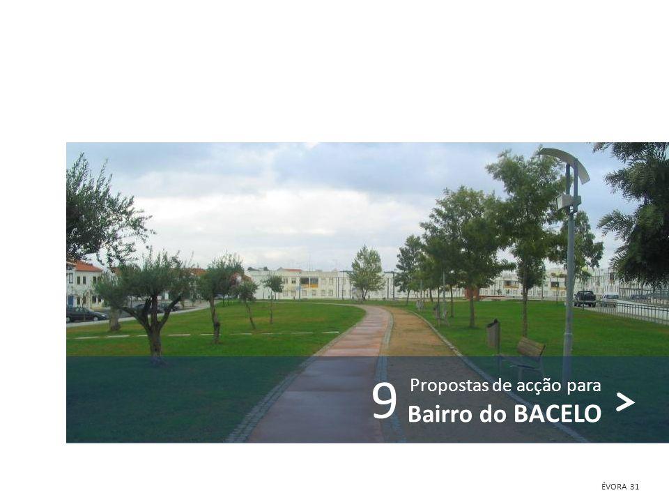 9 Propostas de acção para Bairro do BACELO ÉVORA 31