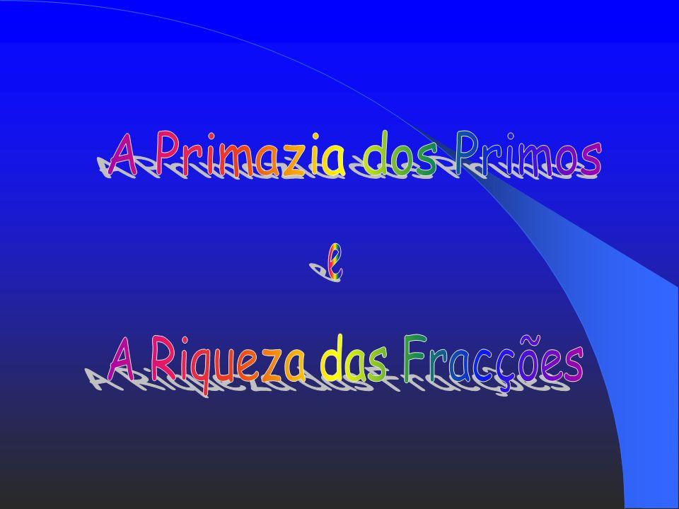 A Primazia dos Primos e A Riqueza das Fracções