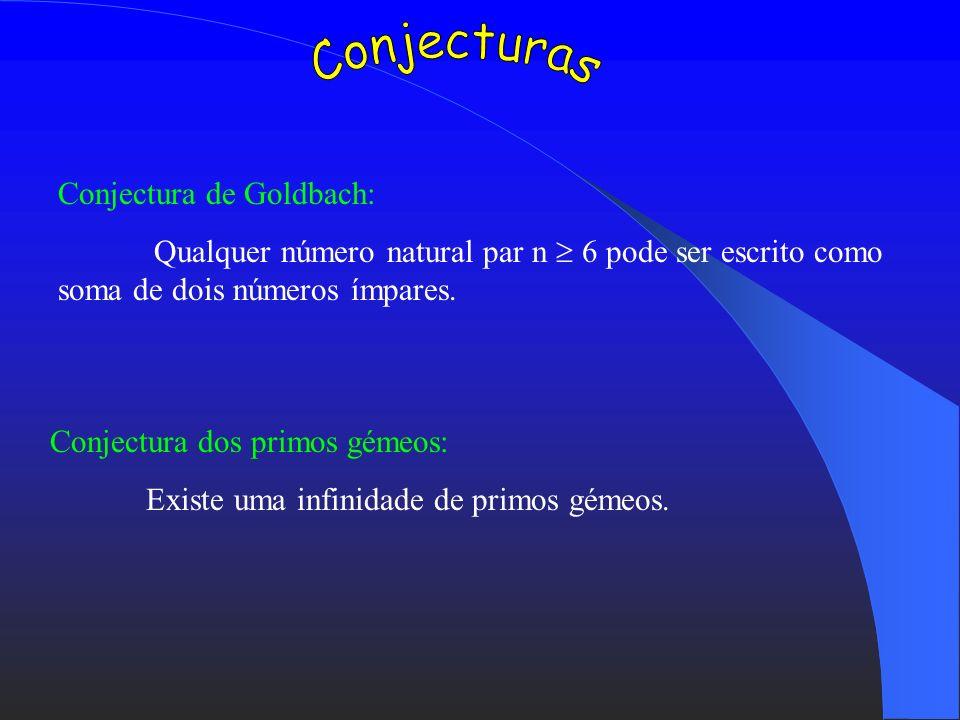 Conjecturas Conjectura de Goldbach: