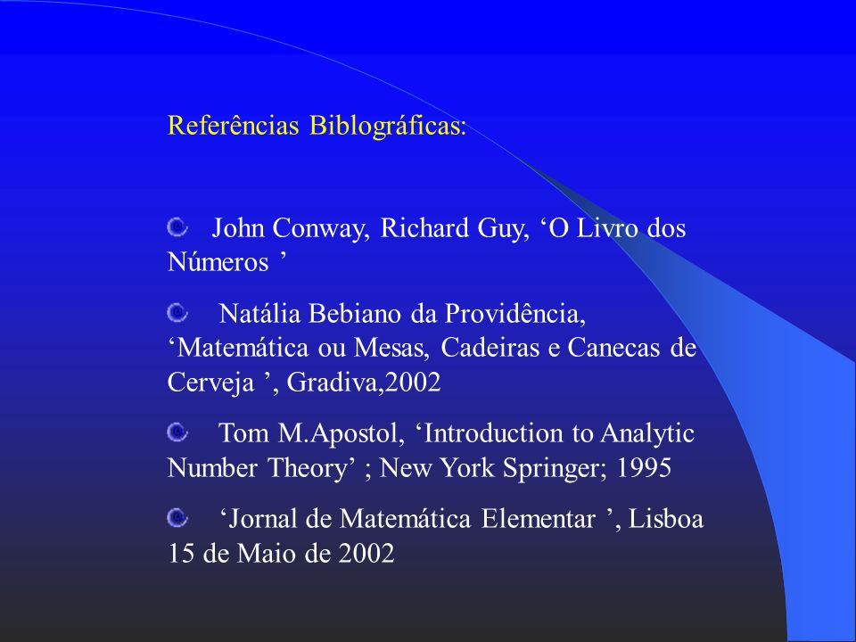 Referências Biblográficas: