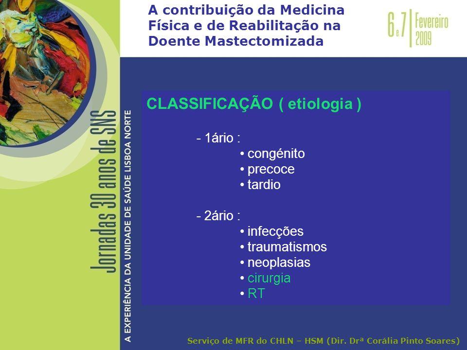 CLASSIFICAÇÃO ( etiologia )