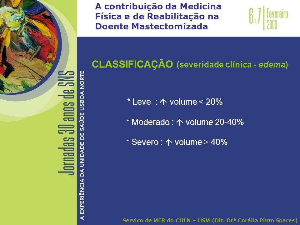 CLASSIFICAÇÃO (severidade clínica - edema)