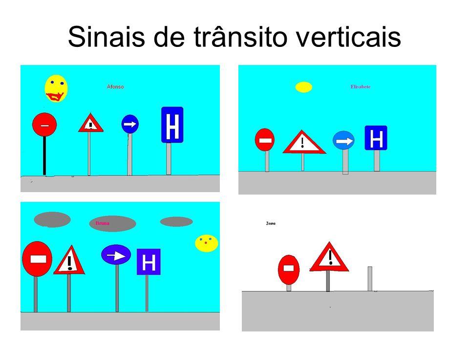Sinais de trânsito verticais