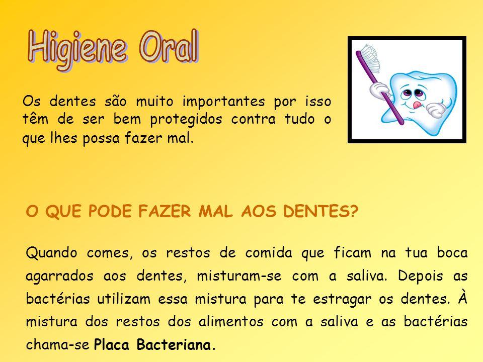 Higiene Oral O QUE PODE FAZER MAL AOS DENTES