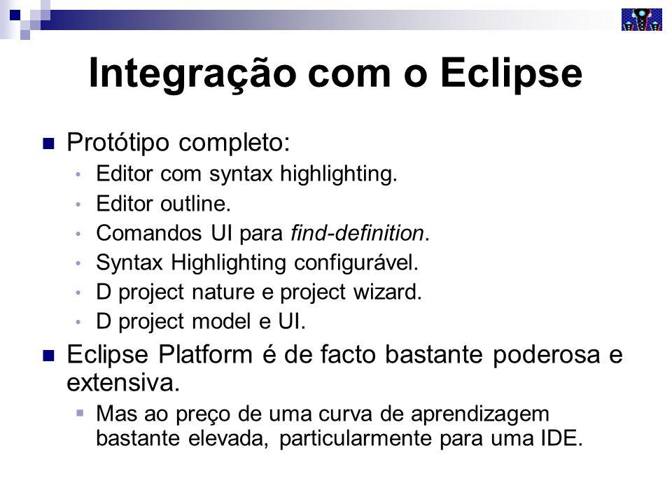 Integração com o Eclipse