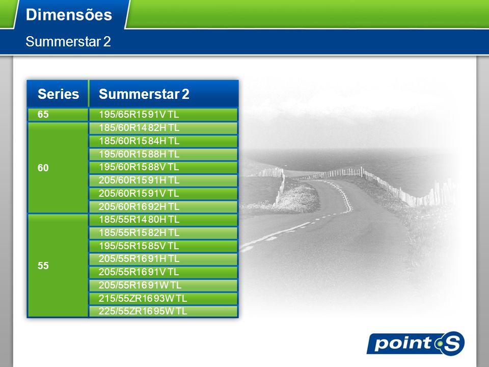 Dimensões Summerstar 2 Series Summerstar 2 65 195/65R15 91V TL