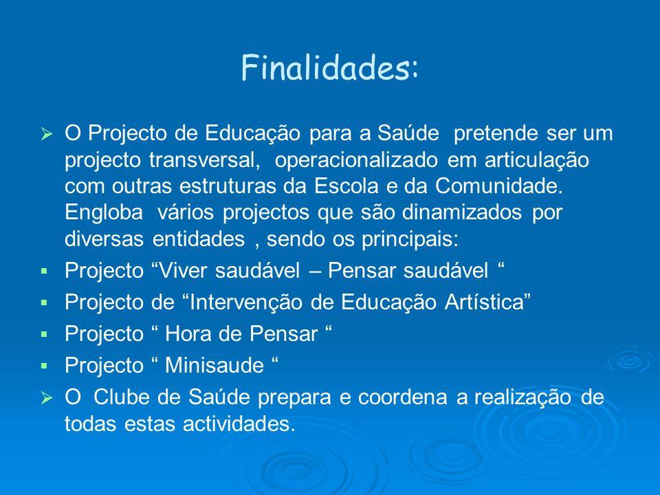 Finalidades: