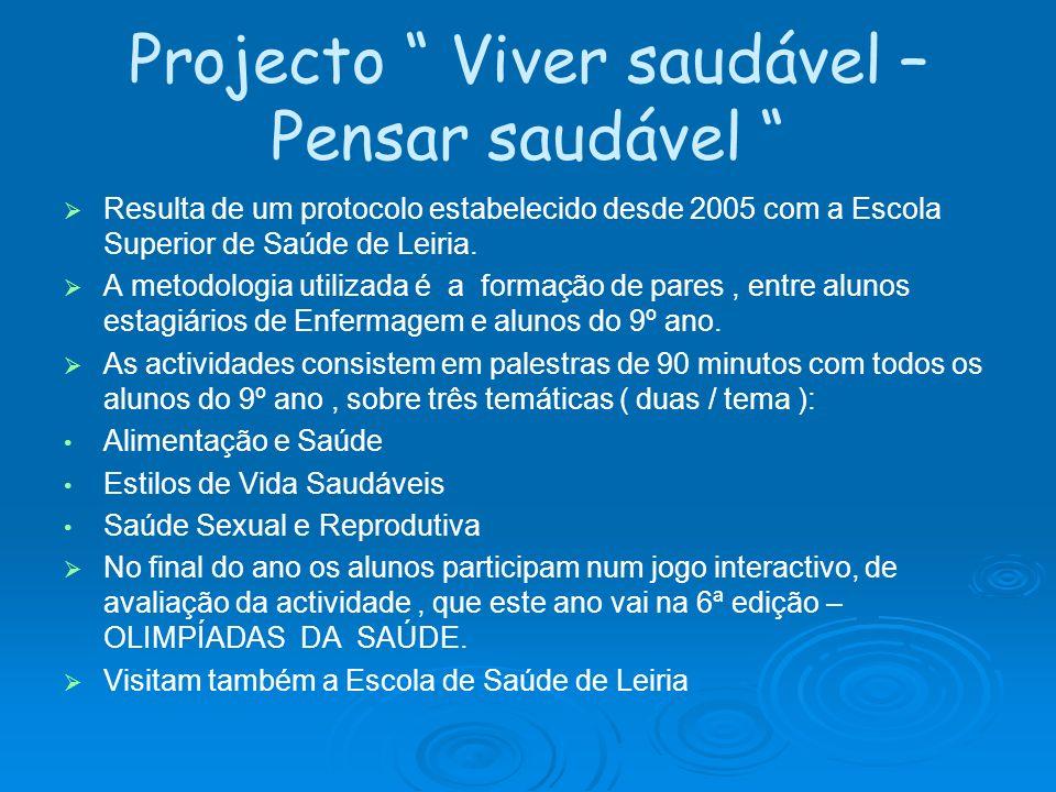 Projecto Viver saudável – Pensar saudável