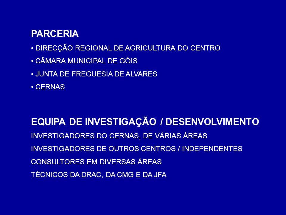 EQUIPA DE INVESTIGAÇÃO / DESENVOLVIMENTO