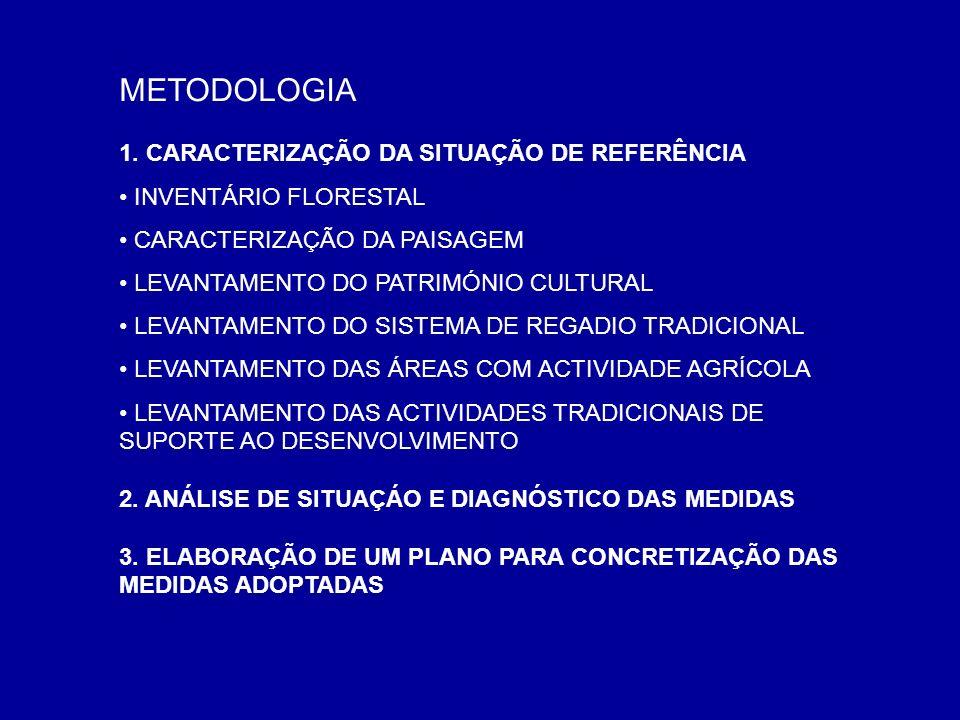METODOLOGIA 1. CARACTERIZAÇÃO DA SITUAÇÃO DE REFERÊNCIA