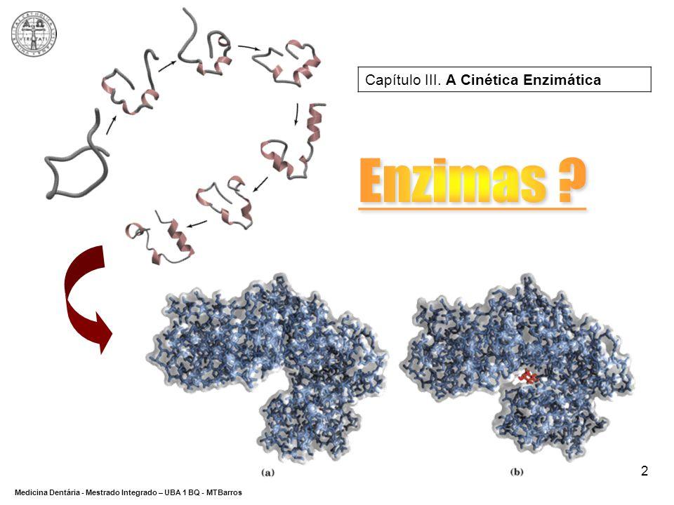 Capítulo III. A Cinética Enzimática
