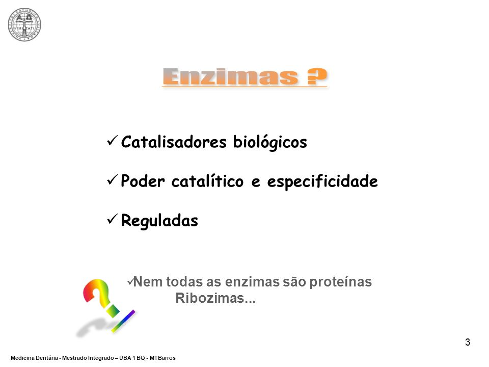 Enzimas Catalisadores biológicos Poder catalítico e especificidade