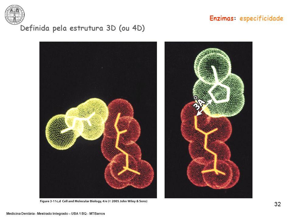 Definida pela estrutura 3D (ou 4D)