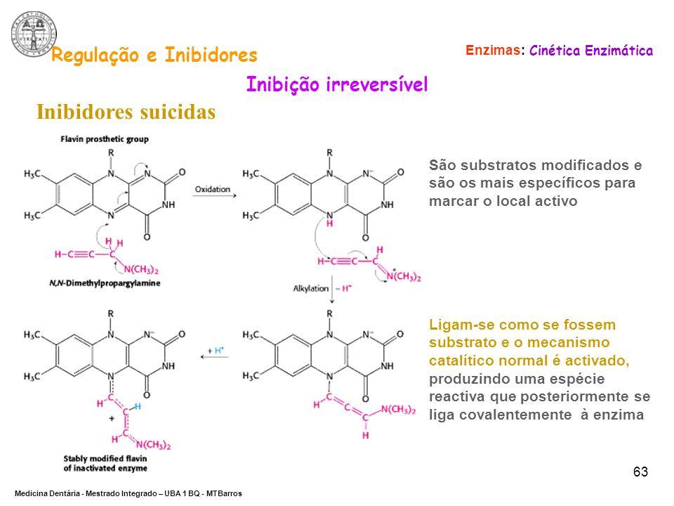 Regulação e Inibidores Inibição irreversível