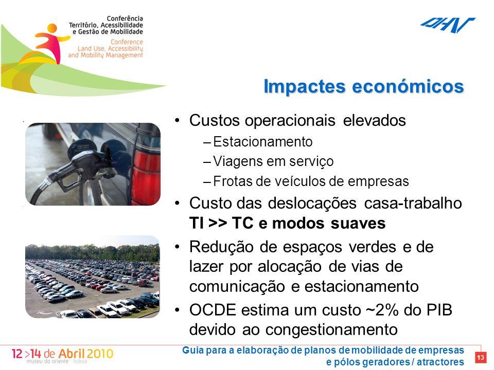 Impactes económicos Custos operacionais elevados