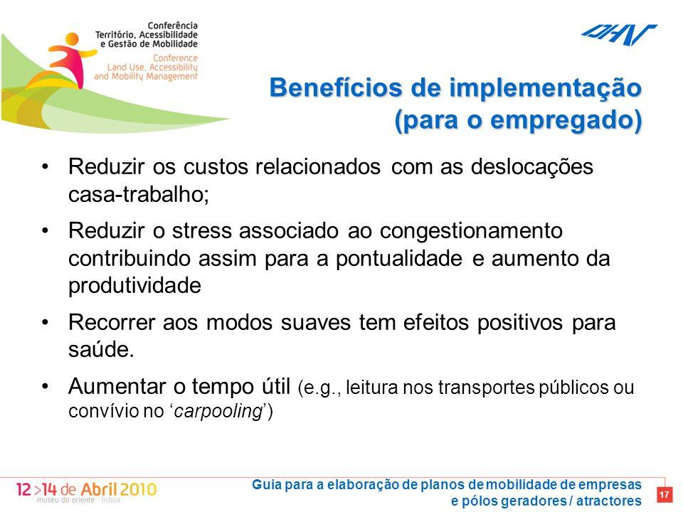 Benefícios de implementação (para o empregado)
