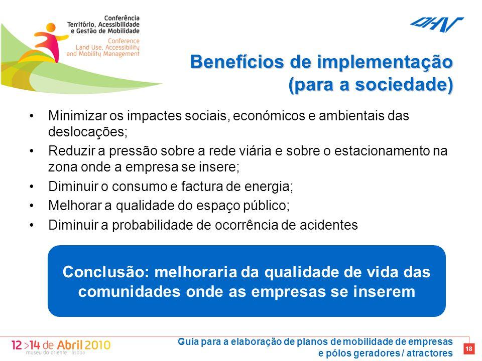 Benefícios de implementação (para a sociedade)