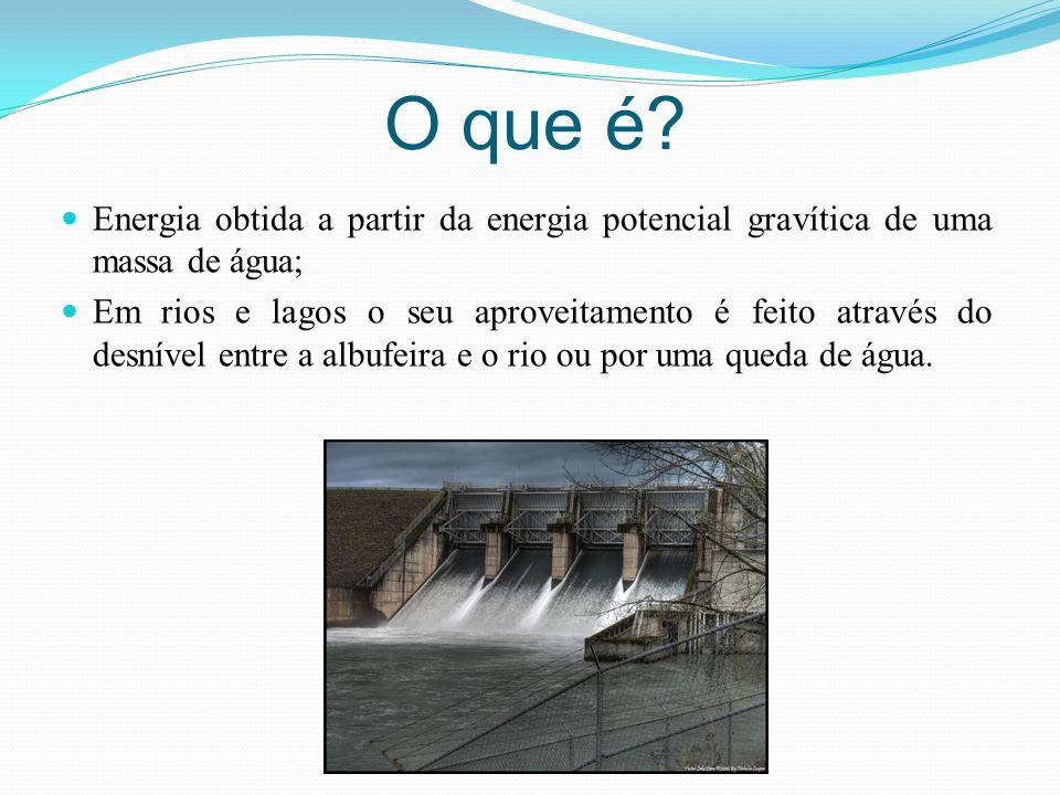 O que é Energia obtida a partir da energia potencial gravítica de uma massa de água;