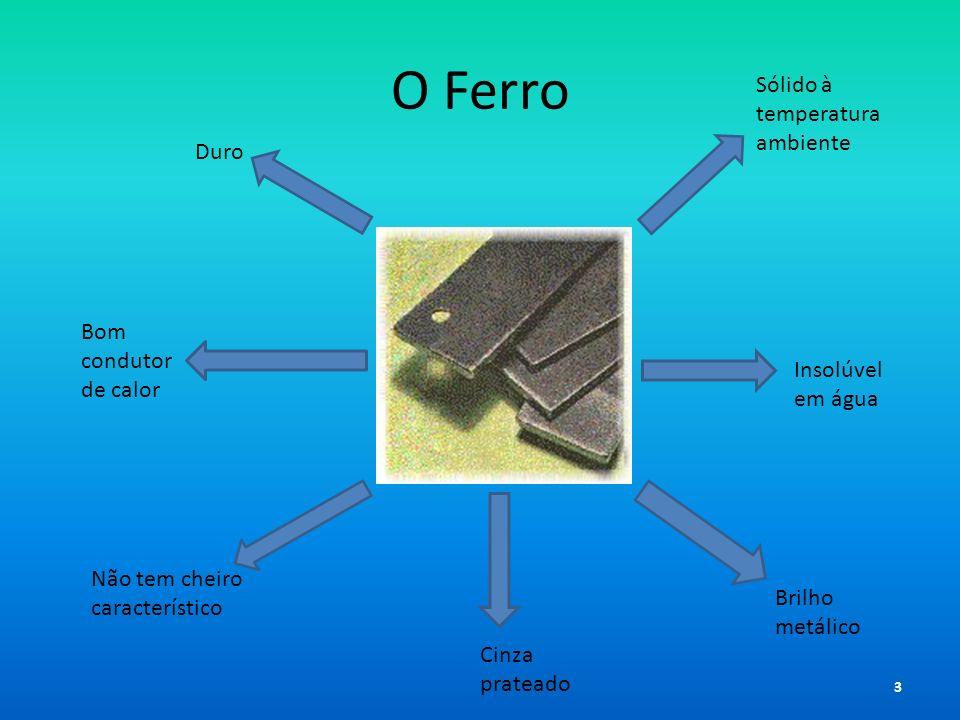 O Ferro Sólido à temperatura ambiente Duro Bom condutor de calor