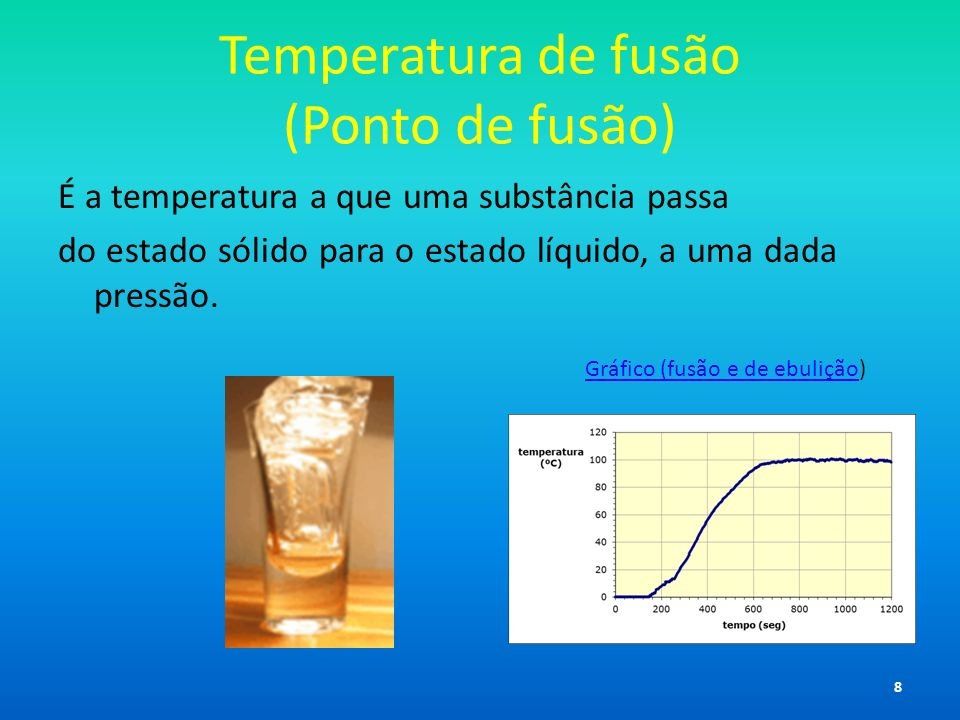 Temperatura de fusão (Ponto de fusão)