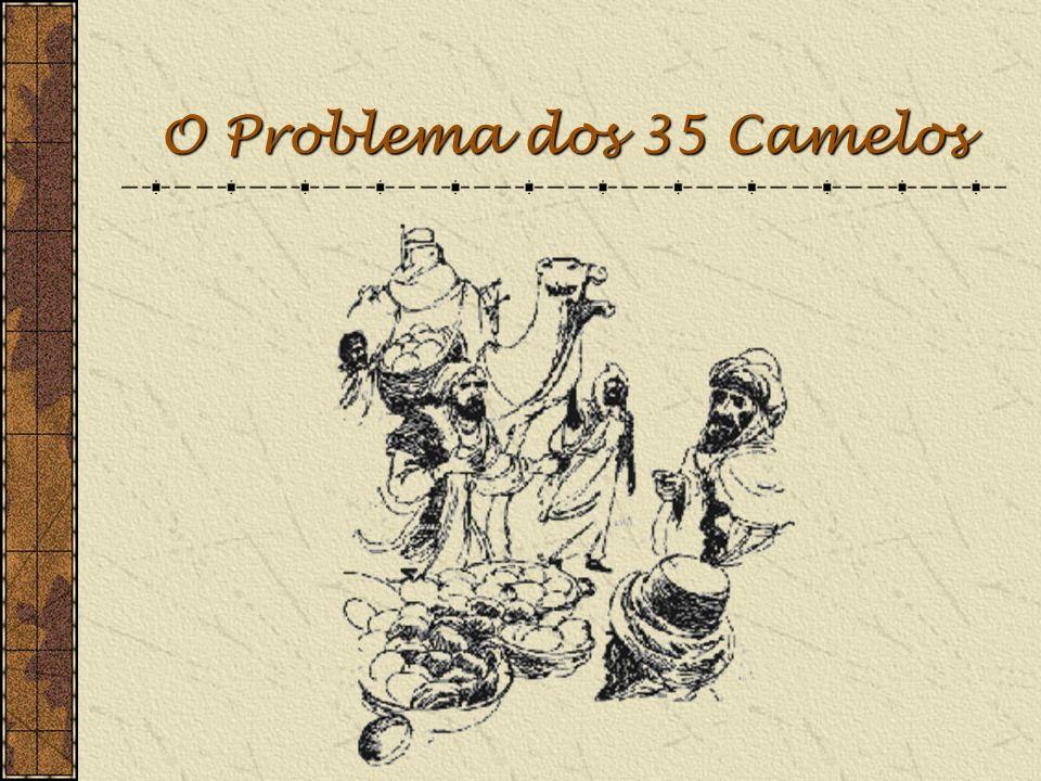 O Problema dos 35 Camelos NOTA: Toda a transição entre diapositivos é efectuada através do clique do Rato ou da tecla Enter.