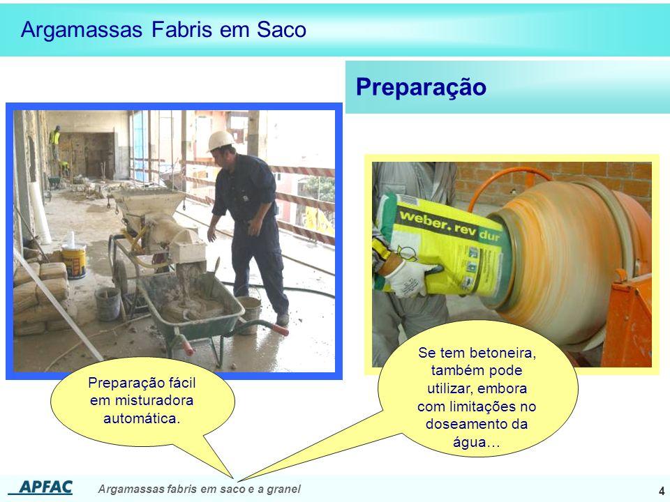 Preparação fácil em misturadora automática.