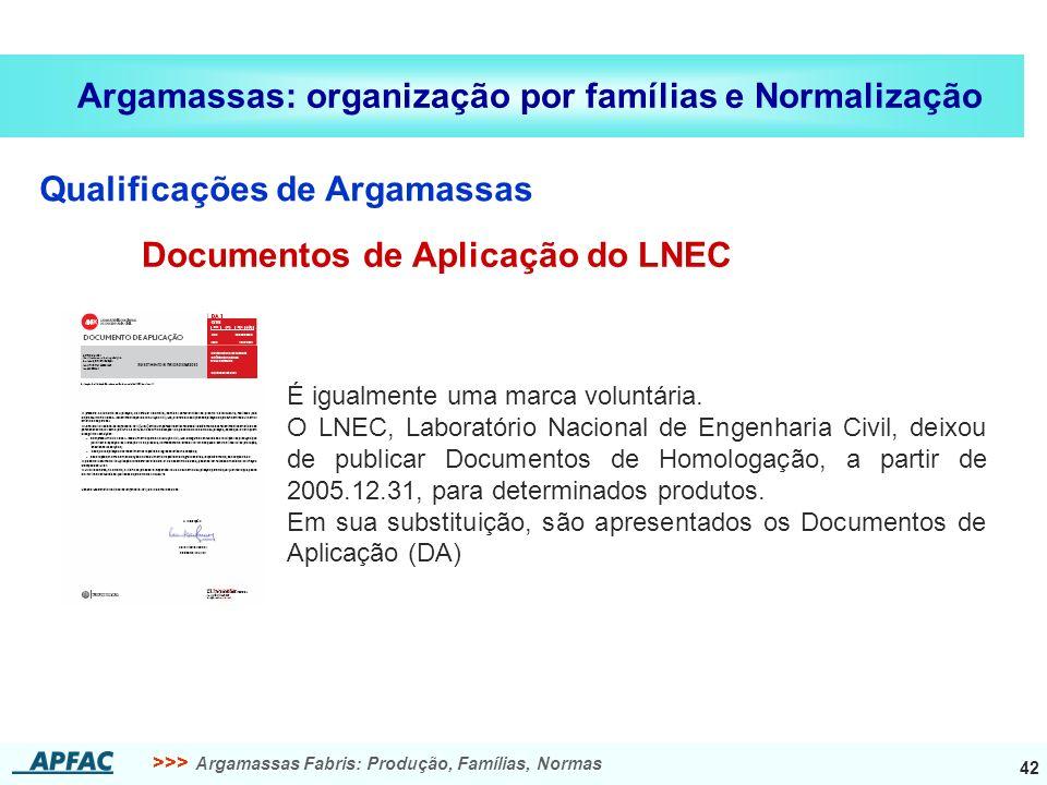 Documentos de Aplicação do LNEC