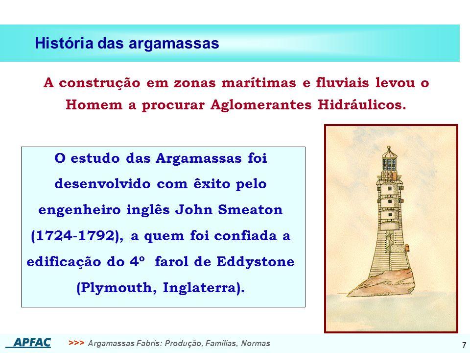 História das argamassas
