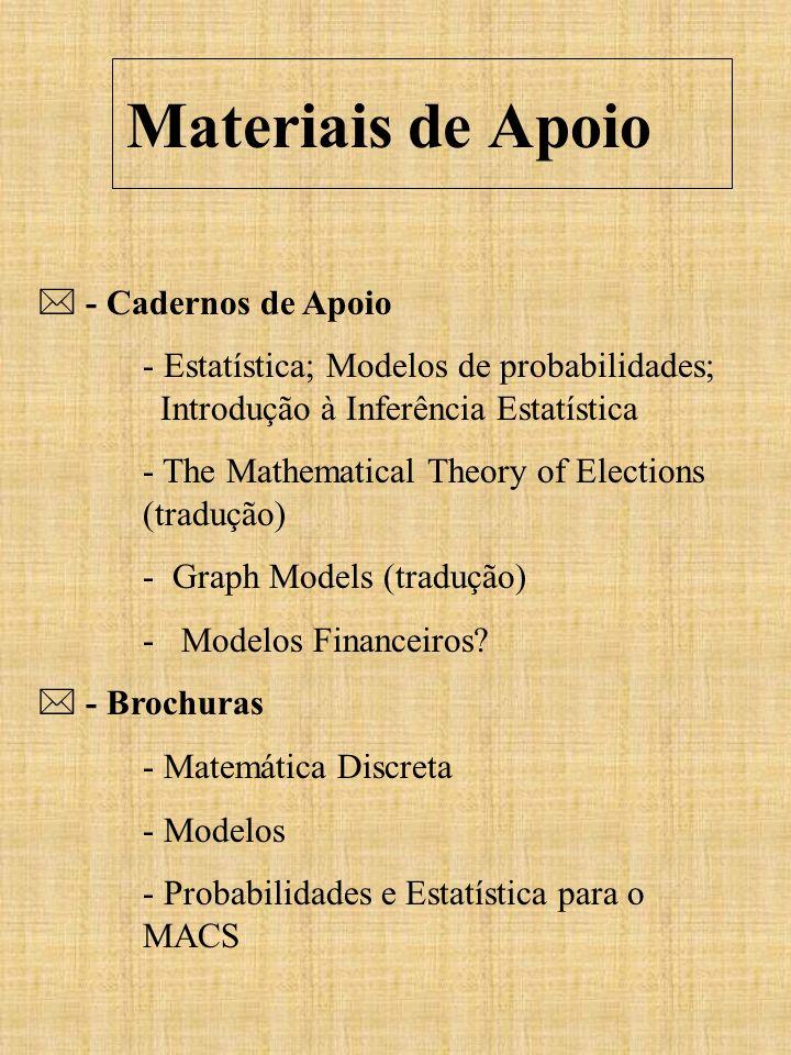 Materiais de Apoio  - Cadernos de Apoio