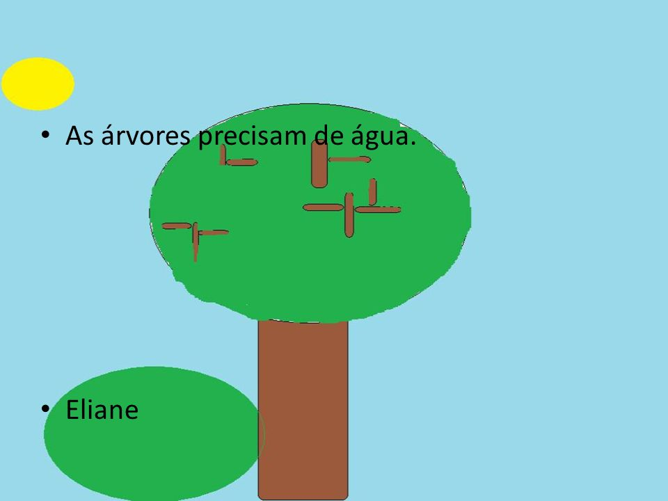 As árvores precisam de água.