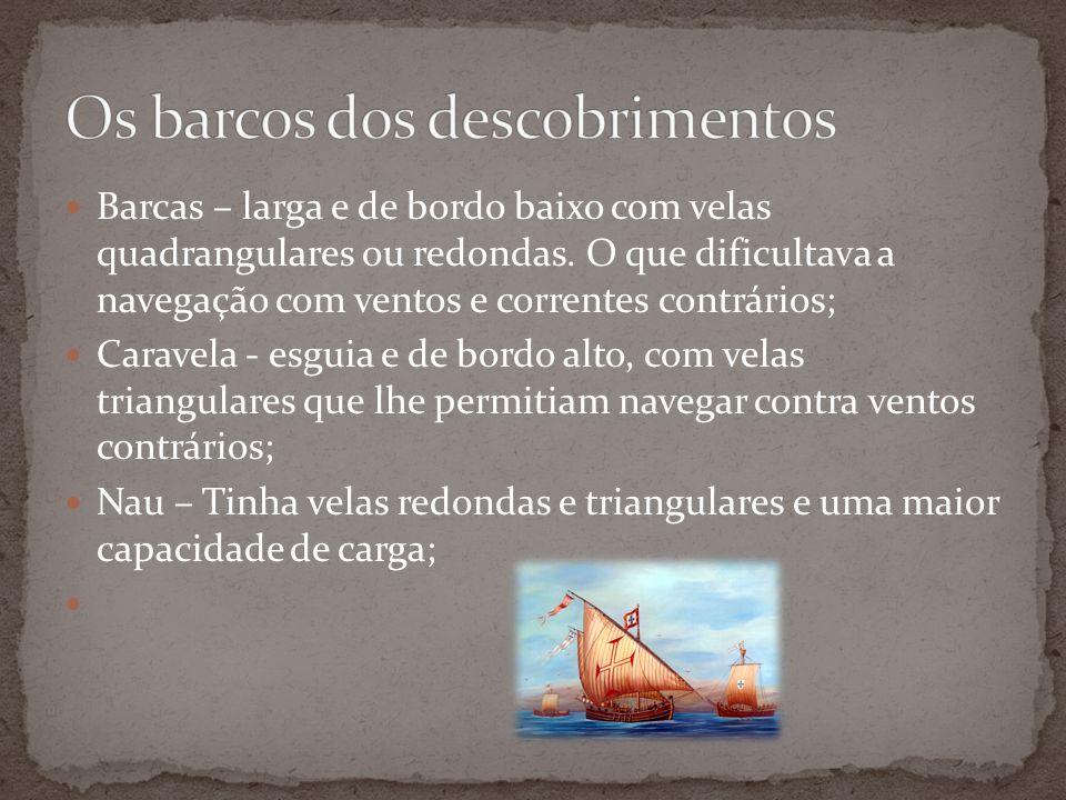 Os barcos dos descobrimentos
