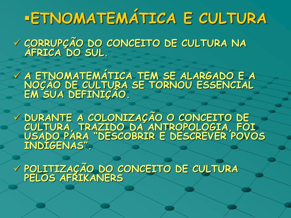 ETNOMATEMÁTICA E CULTURA
