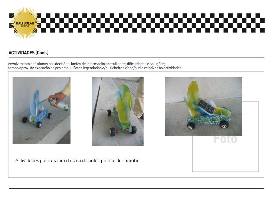 Actividades práticas fora da sala de aula : pintura do carrinho
