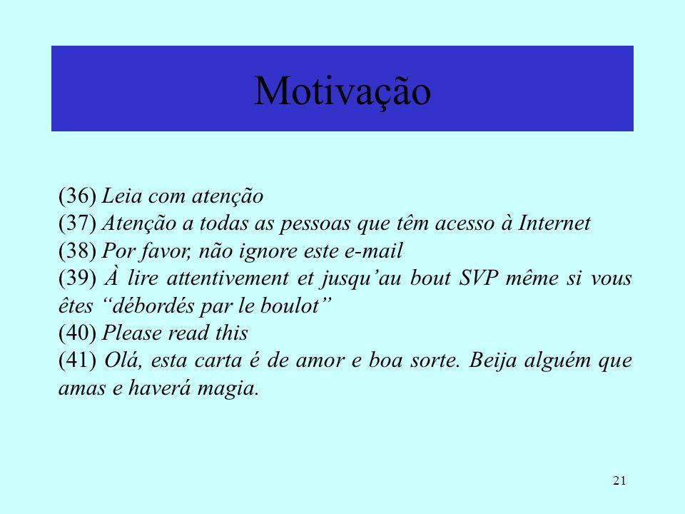Motivação (36) Leia com atenção