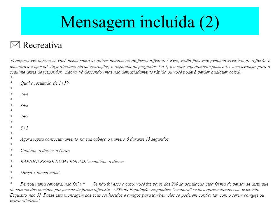 Mensagem incluída (2)  Recreativa