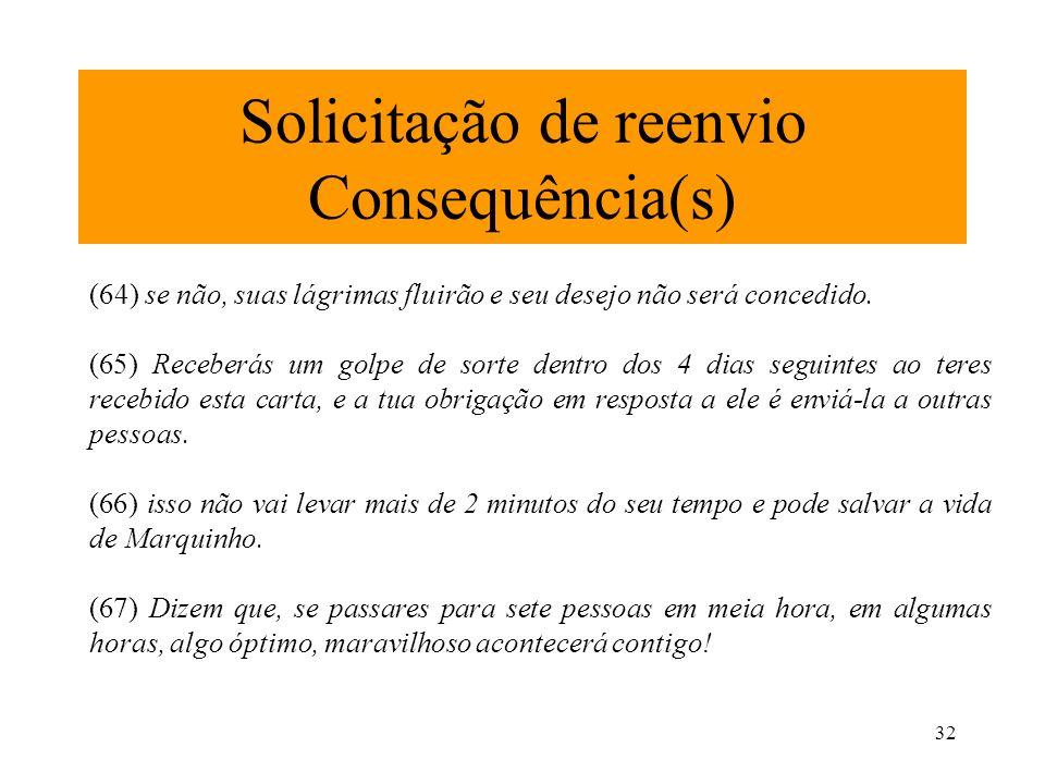 Solicitação de reenvio Consequência(s)