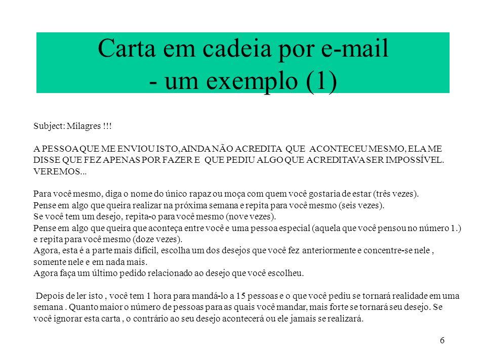 Carta em cadeia por e-mail - um exemplo (1)