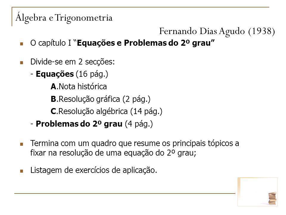 Álgebra e Trigonometria Fernando Dias Agudo (1938)